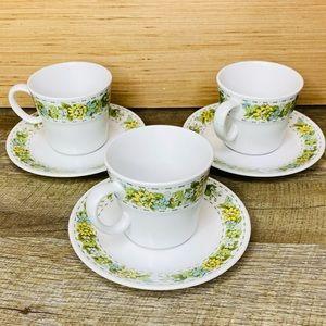 3 piece Noritake Springfield coffee cups